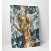 "Obraz na płótnie ""Kobieta z lampką wina"", 50x70 cm"