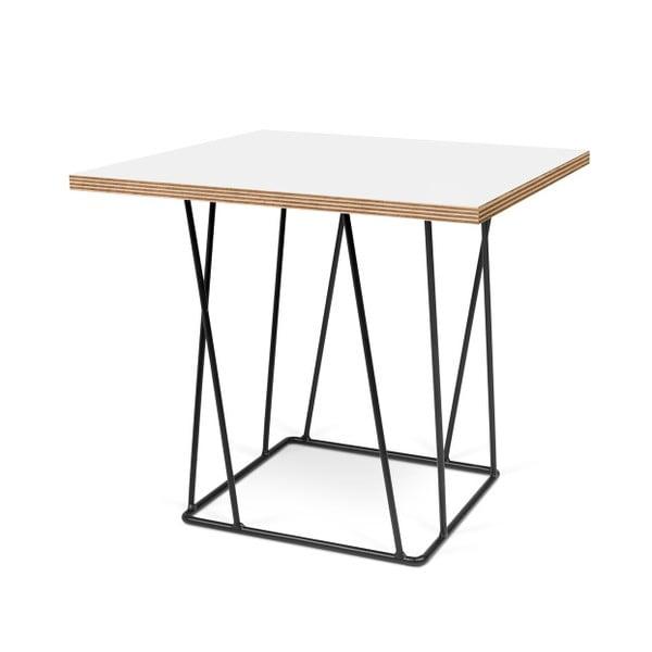 Biały stolik z czarnymi nogami TemaHome Helix, 50 cm