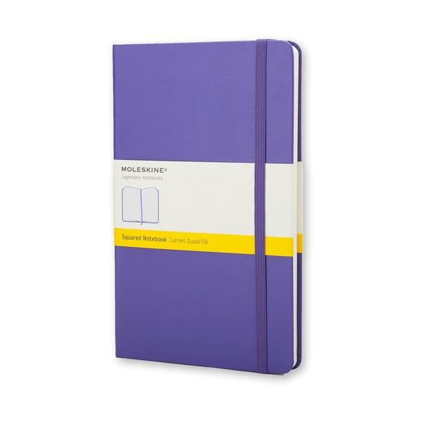 Fioletowy notatnik w kratkę Moleskine Briliant Hard, mały