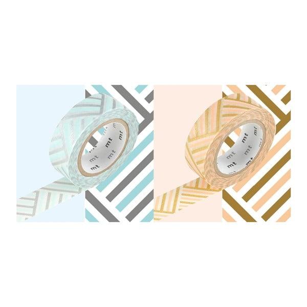 Zestaw 2 taśm dekoracyjnych washi Tressage Corner