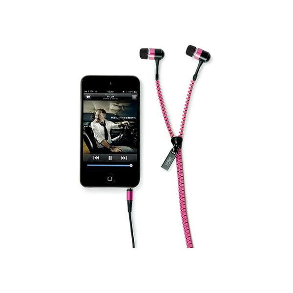 Słuchawki hi-Zip, różowe