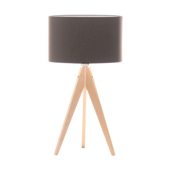 Brązowa lampa stołowa 4room Artist, brzoza, Ø 33 cm