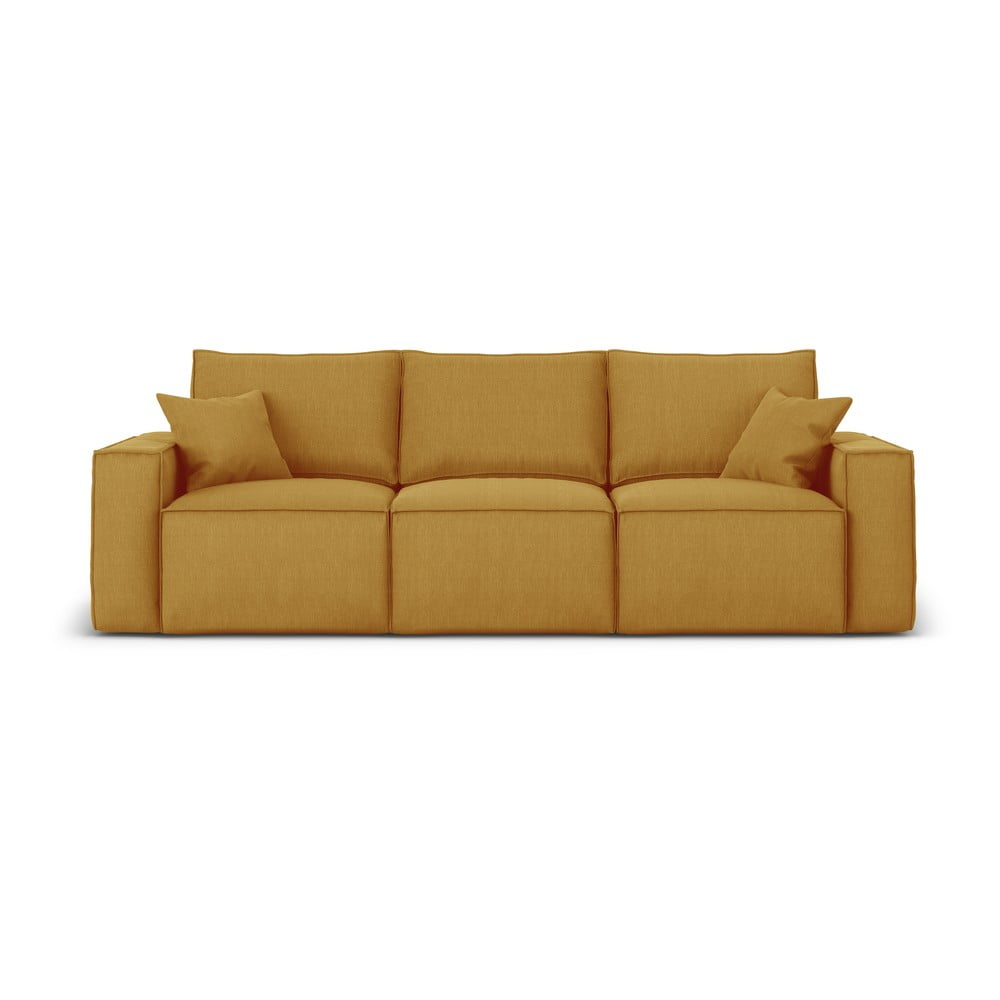 Żółta sofa Cosmopolitan Design Miami, 245 cm