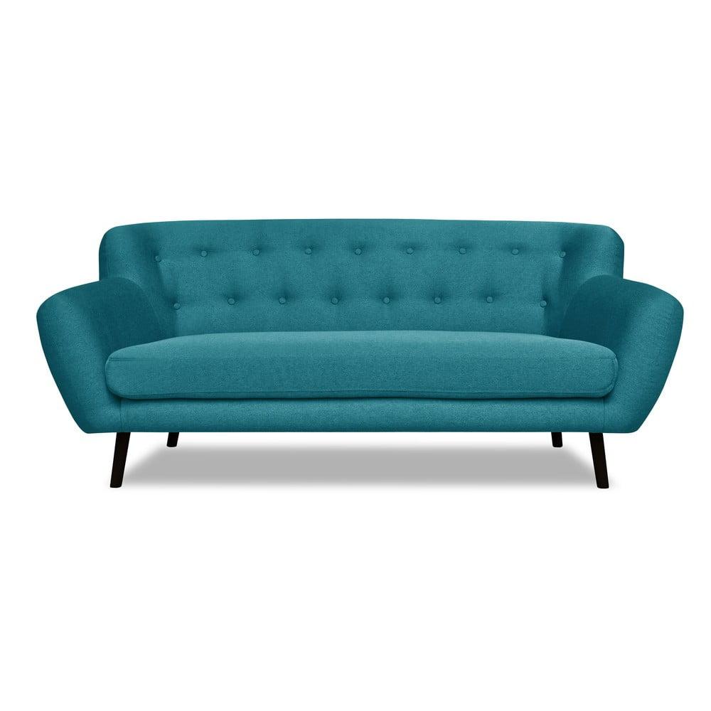Turkusowa sofa Cosmopolitan design Hampstead, 192 cm