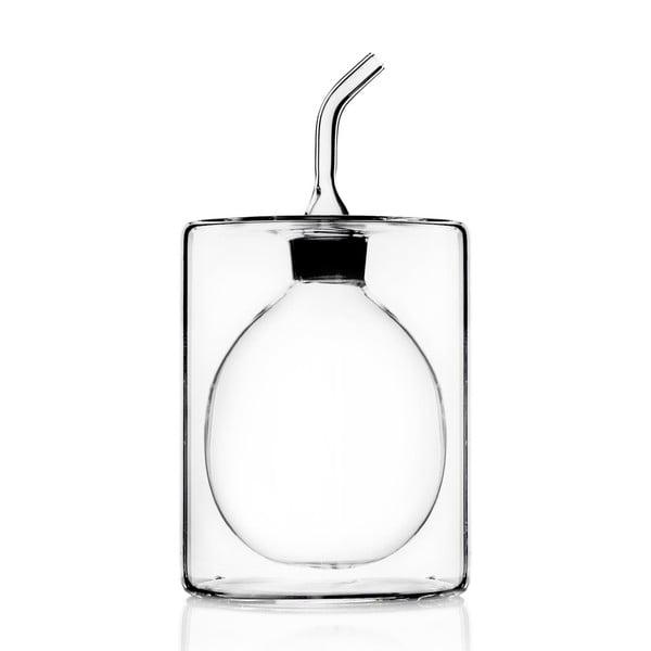 Szklana butelka na olej z podwójną ścianką Cilindro