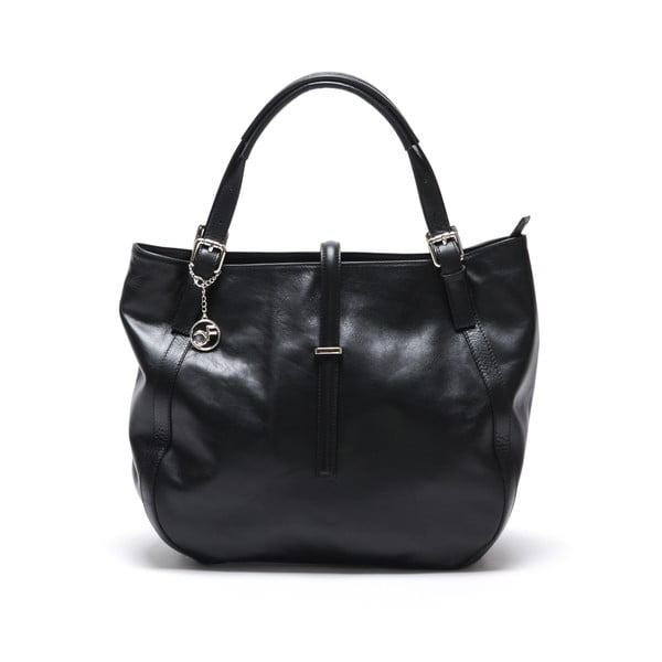 Skórzana torebka Theresa, czarna