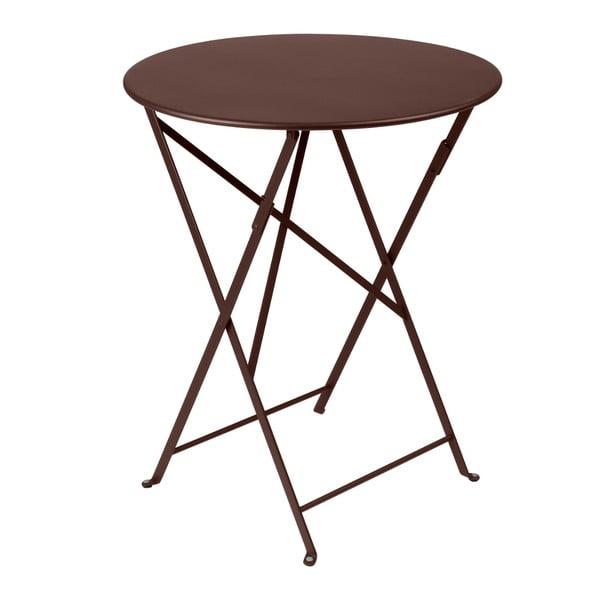 Brązowy składany stół metalowy Fermob Bistro