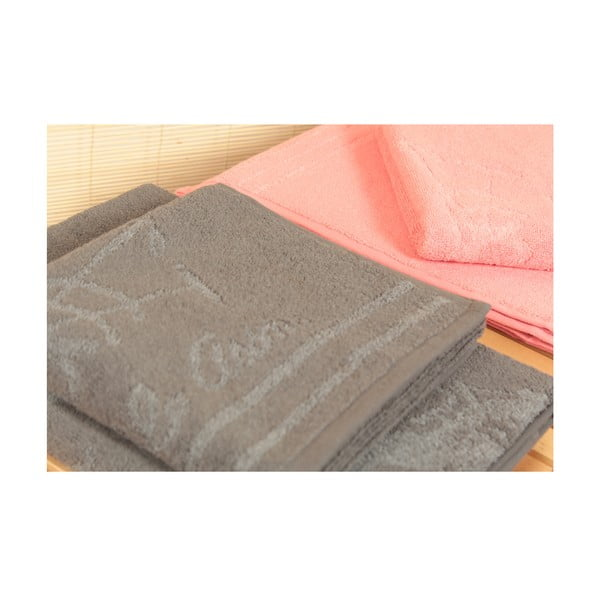Dywanik łazienkowy i 4 ręczniki US Polo Family Grey