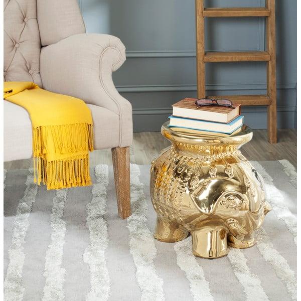 Stolik ceramiczny Capri, złoty