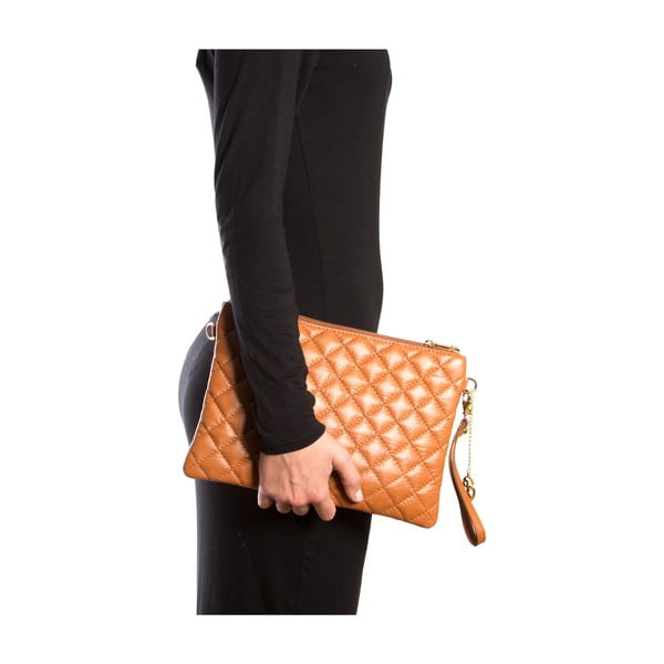Skórzana torebka Flair, koniak