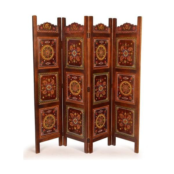 Parawan Orient 204x181 cm, czekoladowy