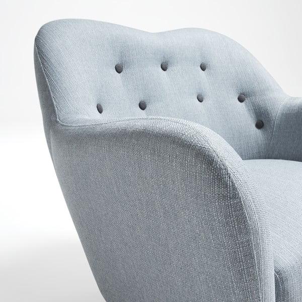 Niebieskoszary fotel La Forma Kamin