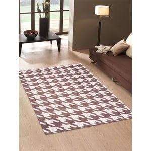 Wytrzymały dywan kuchenny Webtapetti Pied de Poule Brown,80x130cm