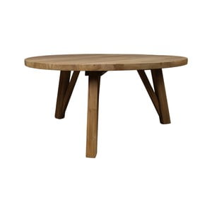 Stolik z drewna tekowego HSM Collection India, Ø 85 cm