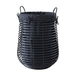 Czarny kosz na pranie Aquanova Gisla, 105 l