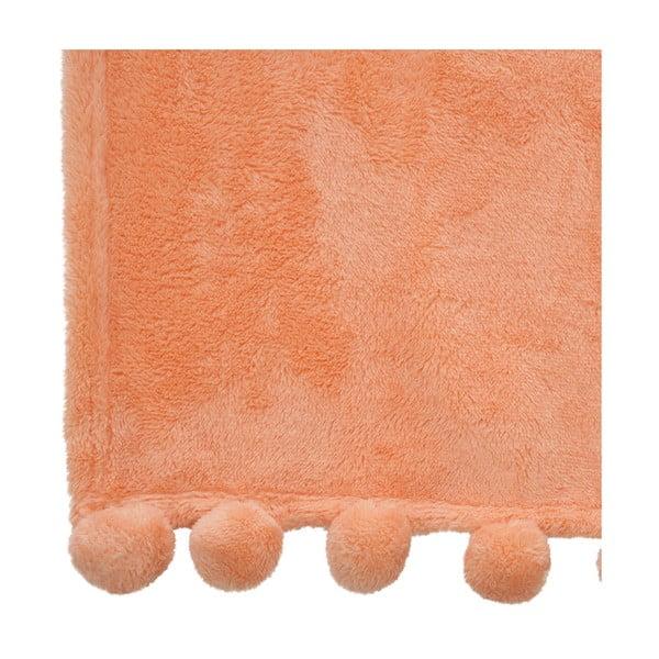Pled Pom-Pom Orange, 130x170 cm