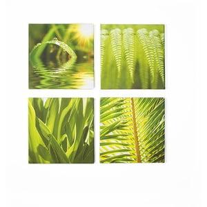 Zestaw 4 obrazów Graham & Brown Green Leaf Quad