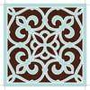 Zestaw 2 mat stołowych Brown and Blue Decor, 20x20 cm