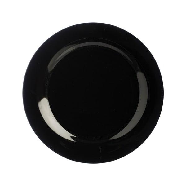 Talerz   kamionkowy Black Dinner, 21 cm