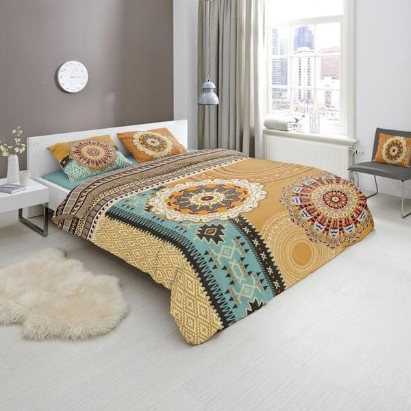 Pościel dwuosobowa z satyny bawełnianej Muller Textiels Akinye, 200x240 cm