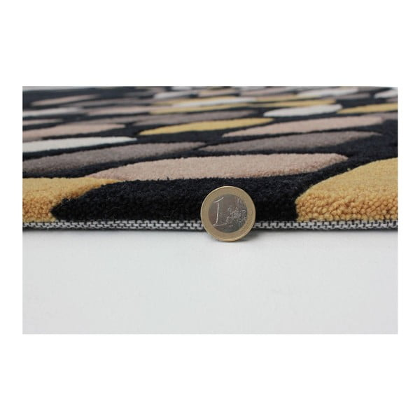 Dywan Flair Rugs Swirl Black/Gold, 160x230 cm