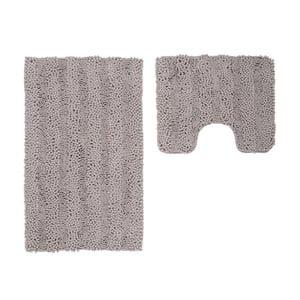 Zestaw 2 dywaników łazienkowych z wcięciem Surface Taupe