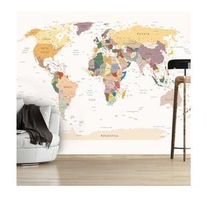 Tapeta wielkoformatowa Artgeist World Map, 300x210 cm
