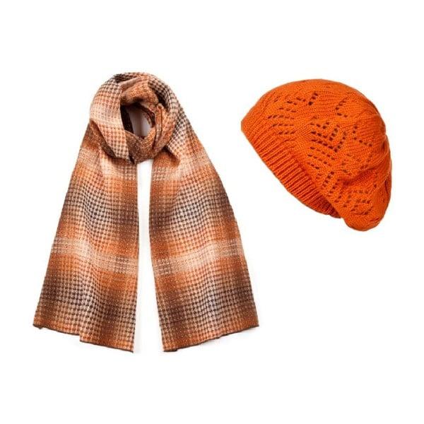 Czapka i szalik Orange Elegant