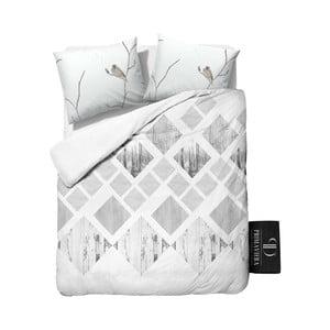 Pościel z diagonalu Dreamhouse Landscape White, 240x220 cm