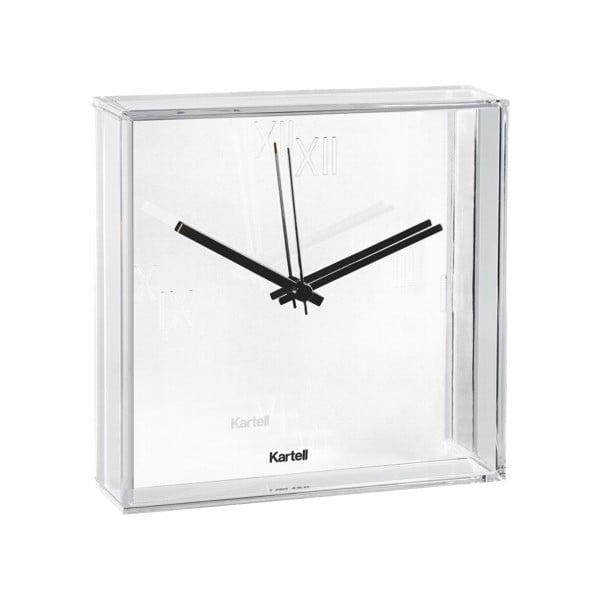 Biały zegar wiszący Kartell Tic & Tac New