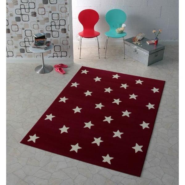 Bordowy dywan dziecięcy dywan Hanse Home Stars, 140x200 cm
