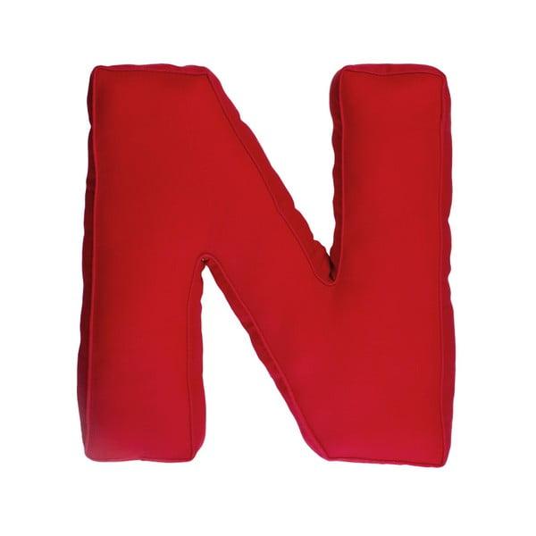 Poduszka w kształcie litery N, czerwona