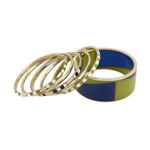 Komplet 6 bransoletek Green Blue