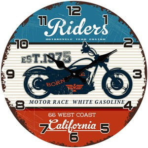 Szklany zegar California, 34 cm