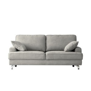 Jasnoszara sofa trzyosobowa Kooko Home Rumba