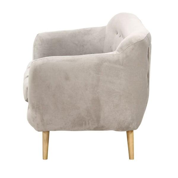 Jasnoszara   sofa trzyosobowa Wintech Indigo Ibiza