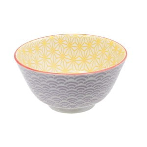 Fioletowo-żółta porcelanowa miska Tokyo Design Studio Star, ⌀12cm
