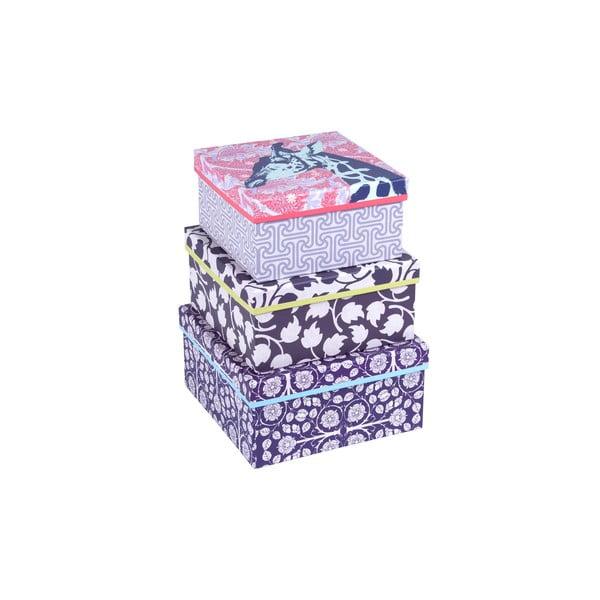 Zestaw 3 pudełek Giraffe