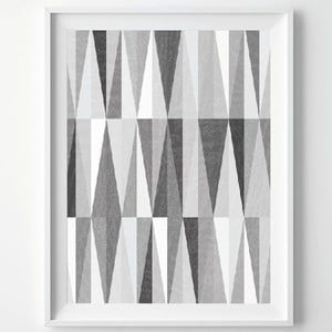 Plakat Monochrome Grey, A3