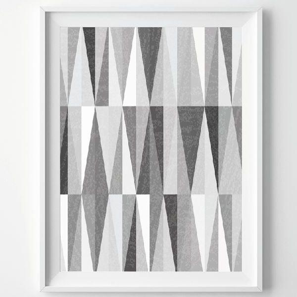 Plakat Monochrome Grey, A3