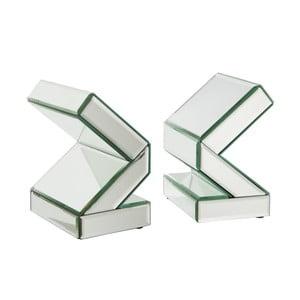 Zestaw 2 srebrnych podpórek do książek J-Line Book End
