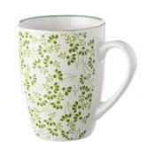 Zielono-biały kubek Unimasa Meadow, 375 ml