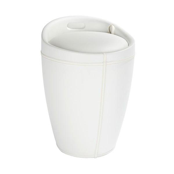 Biały kosz na pranie i taboret w jednym Wenko Candy Look, 20 l