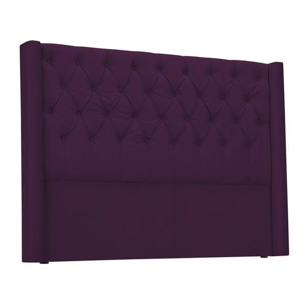 Fioletowy zagłówek łóżka Windsor & Co Sofas Queen, 196x120 cm