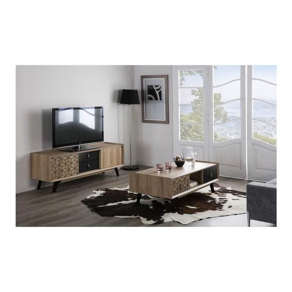 Szafka pod TV w dekorze drewna dębowego Marckeric Ceilan