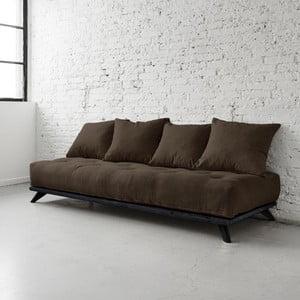 Sofa Senza Black/Choco Brown
