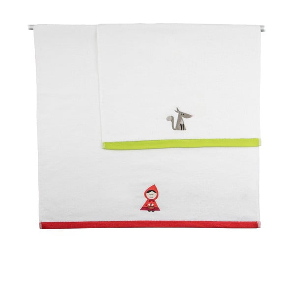 Zestaw 2 ręczników Red Ridding, 50x100 cm i 70x140 cm