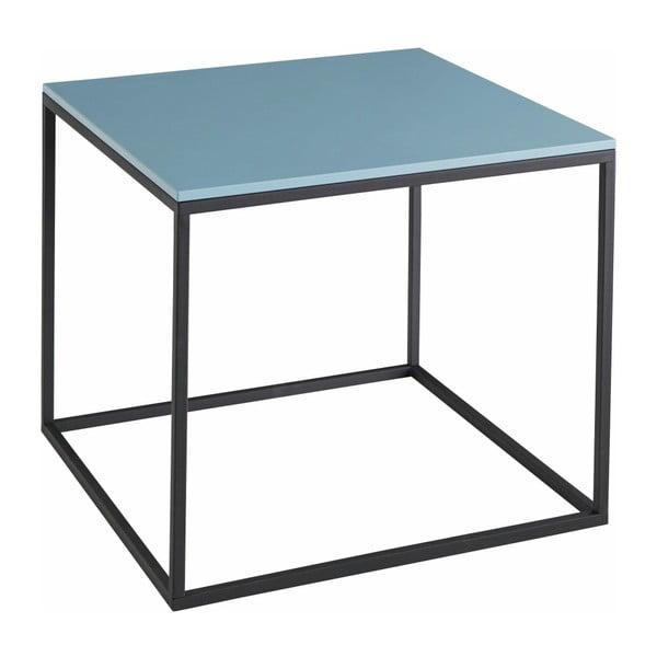 Stolik z niebieskim blatem Støraa Castana, szer. 50 cm