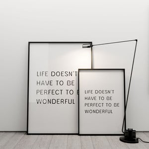 Plakat Life doesn´t have to be perfect to be wonderful, 50x70 cm