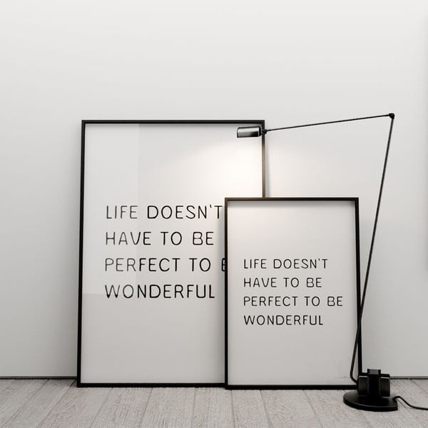 Plakat Life doesn´t have to be perfect to be wonderful, 100x70 cm